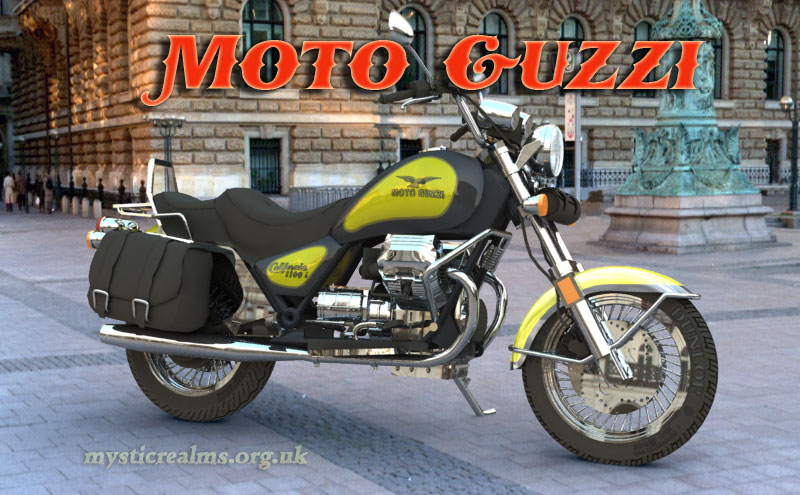 MotoGuzzi 1100 I California bike picture. computer generated image by Mystic Realms